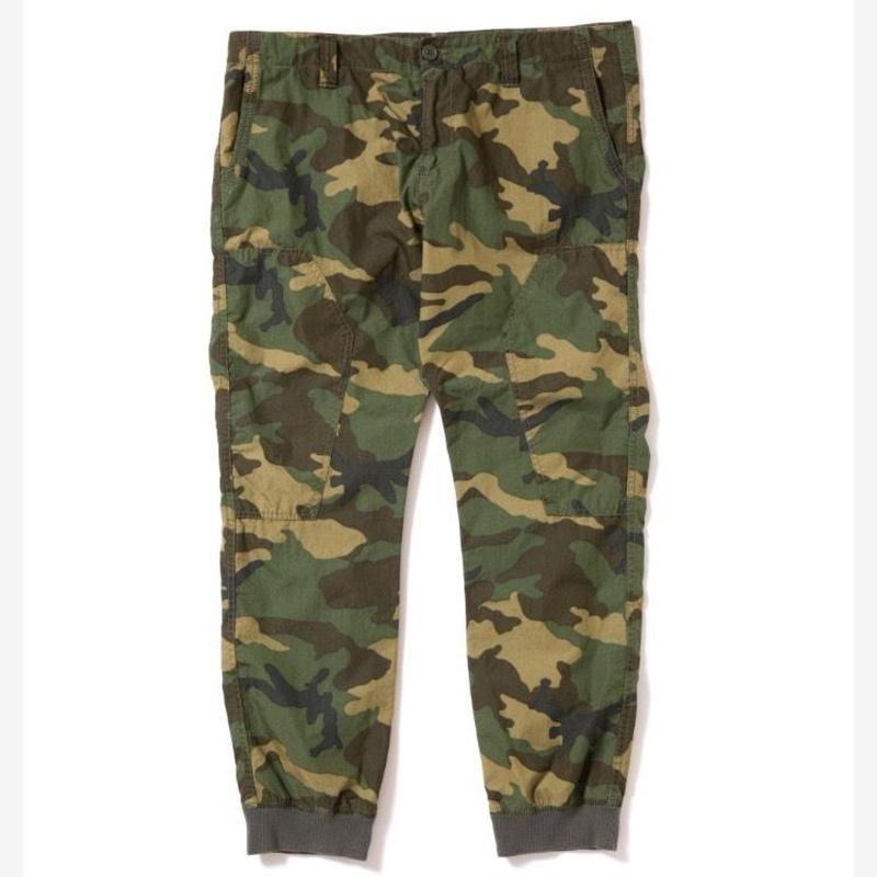 【APPLEBUM】Woodland Camo Rib Pants