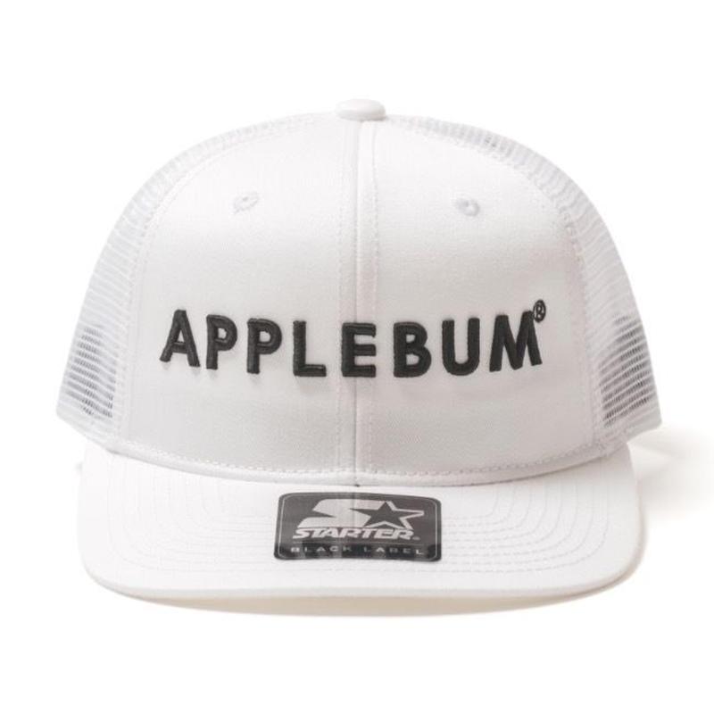 【APPLEBUM】Logo Mesh Cap (Starter Body)[White]