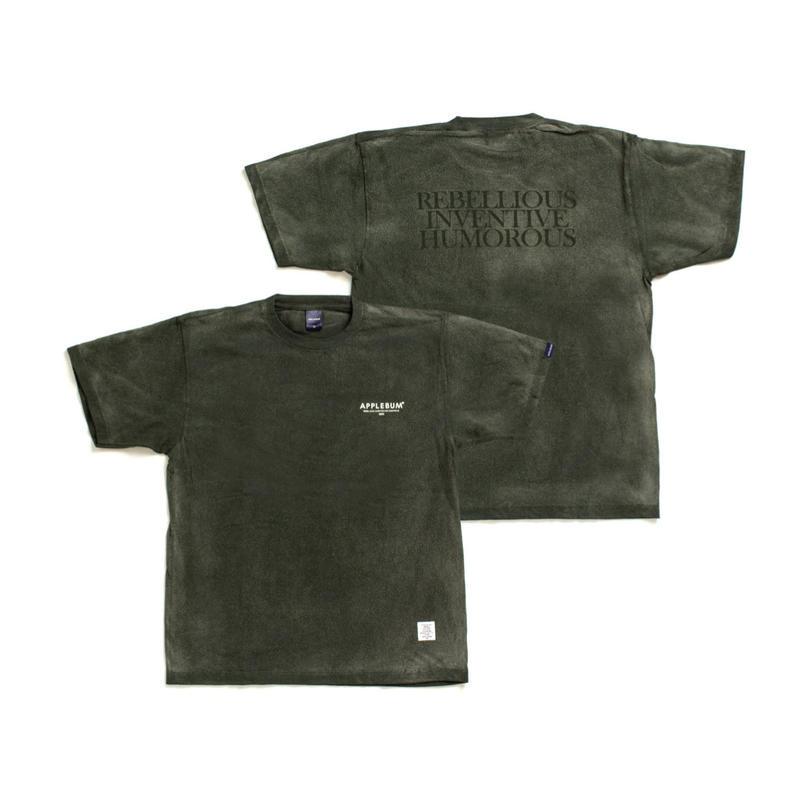 【APPLEBUM】Bleach T-shirt [Green]