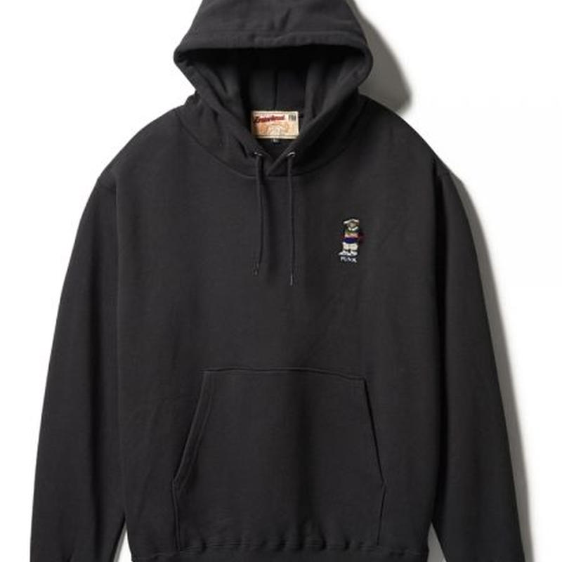 【INTEBREED】PUBA BEAR EMBROIDERED HOODIE(BLACK)