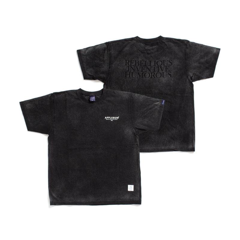 【APPLEBUM】Bleach T-shirt [Black]