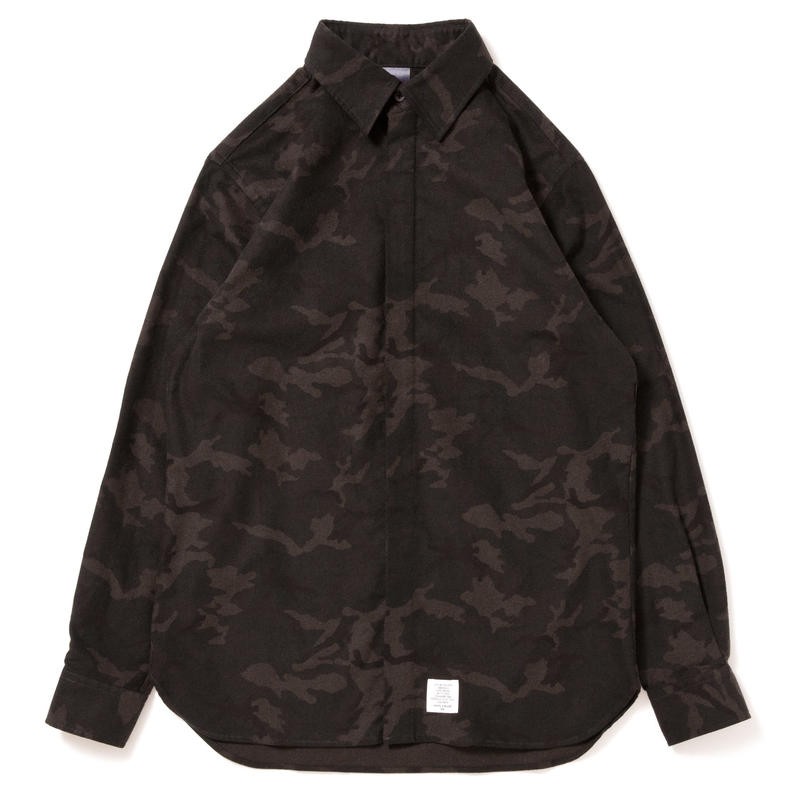 【APPLEBUM】Camo Nel Fly Front Shirt