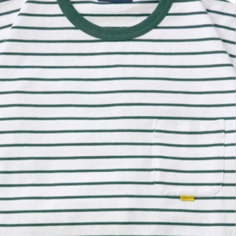 【INTERBREED】2TONE BORDER TEE(GREEN)