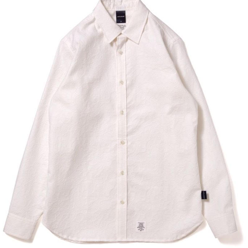 【APPLEBUM】Paisley Emboss Shirt [White]
