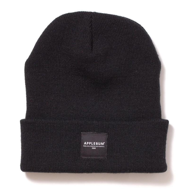 【APPLEBUM】Patch Knit Cap [Black]