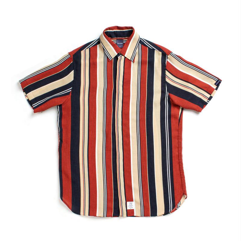 【APPLEBUM】Multi Stripe Fly Front S/S Shirt