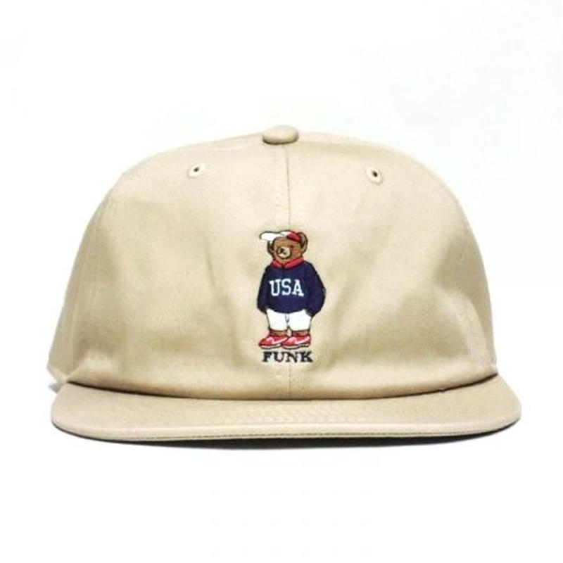 【INTERBREED】USA BEAR EMBROIDERED BALL CAP(BEIGE)