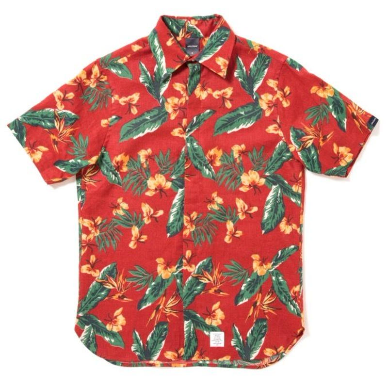 "【APPLEBUM】""Tony Montana"" Fly Front SS Shirt [Red]"