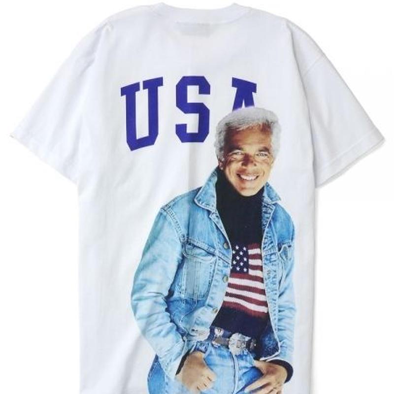 【INTERBREED】USA SS TEE(WHITE)