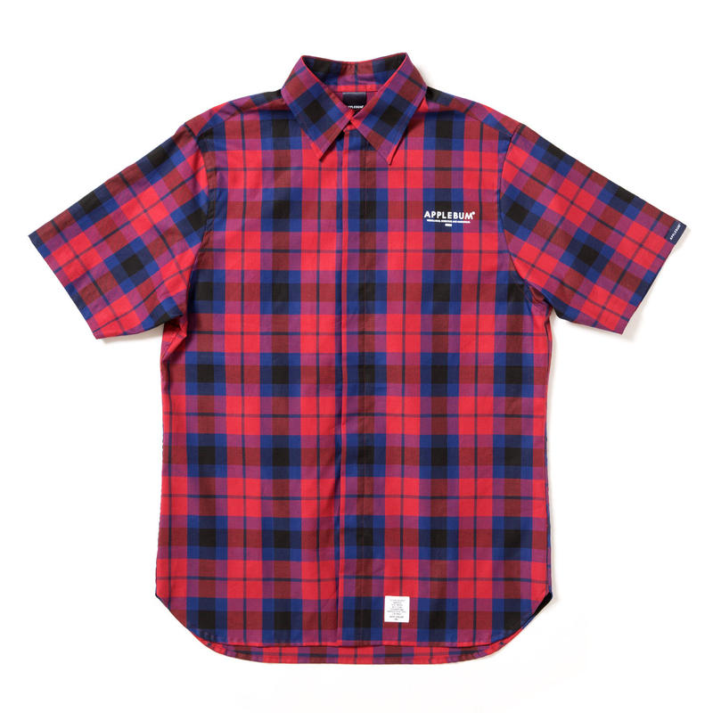 【APPLEBUM】Check Fly Front SS Shirt [Red]