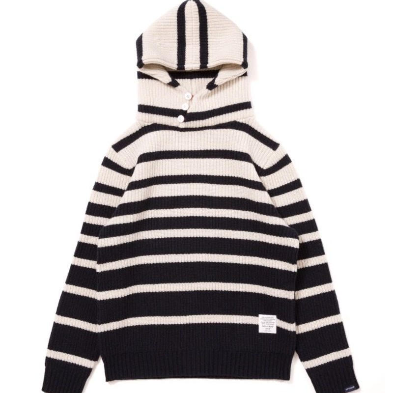 【APPLEBUM】Border Knit Parka