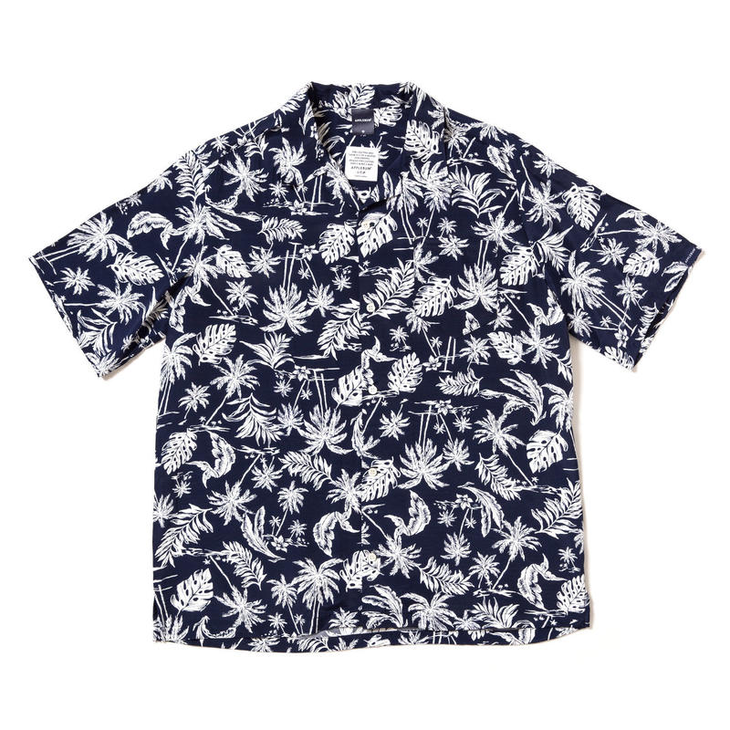 【APPLEBUM】Monotone Aloha Shirt [Navy]