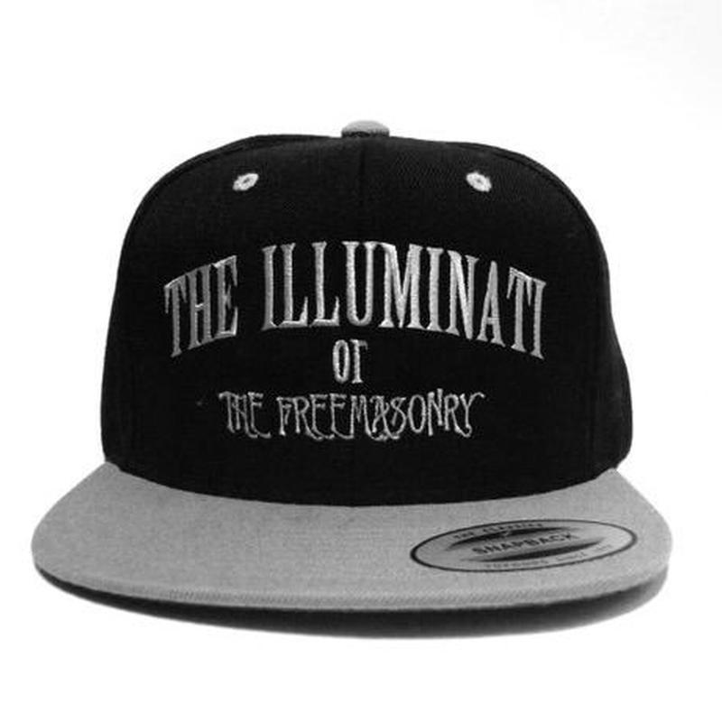 "SNAPBACK CAP ""ILLUMINATI"" (BLK/GRAY×WHT)"