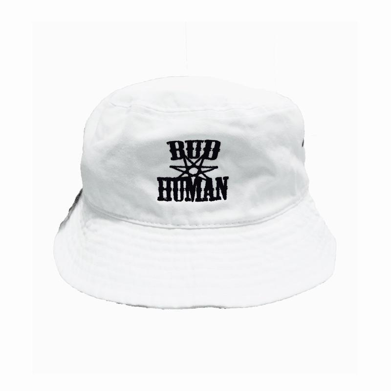 "Bucket Hat ""BUDHUMAN"" (WHT)"