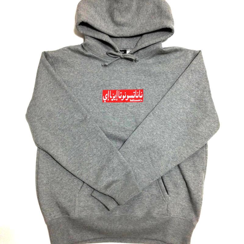 Box logo Pullover Hoodie (GRAY)