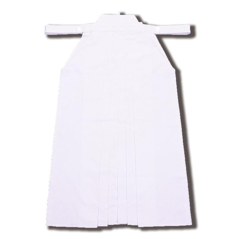 高級ポリエステル袴 白色[HPW]