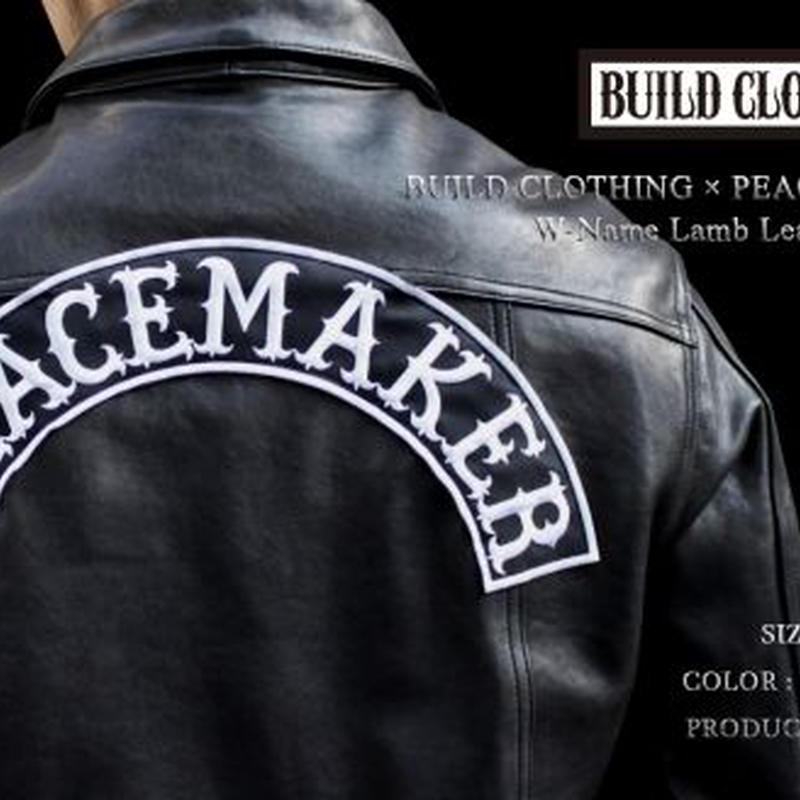 BUILD CLOTHING × PEACE MAKER W-Name Lamb Leather G-JKT