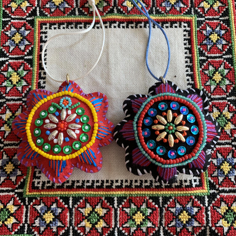 beads  embroidery ornament(sun)