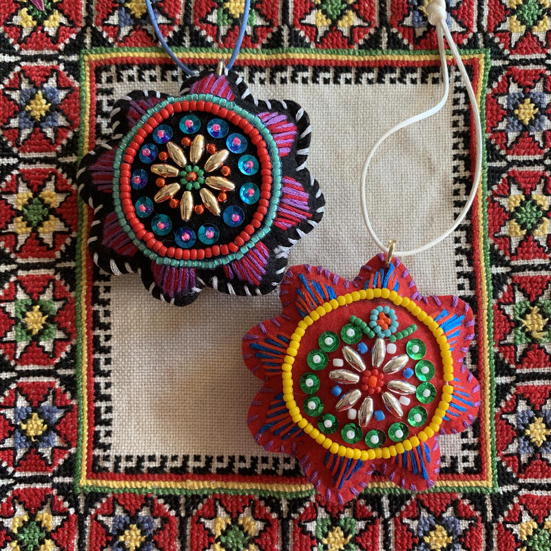 beads  embroidery ornament