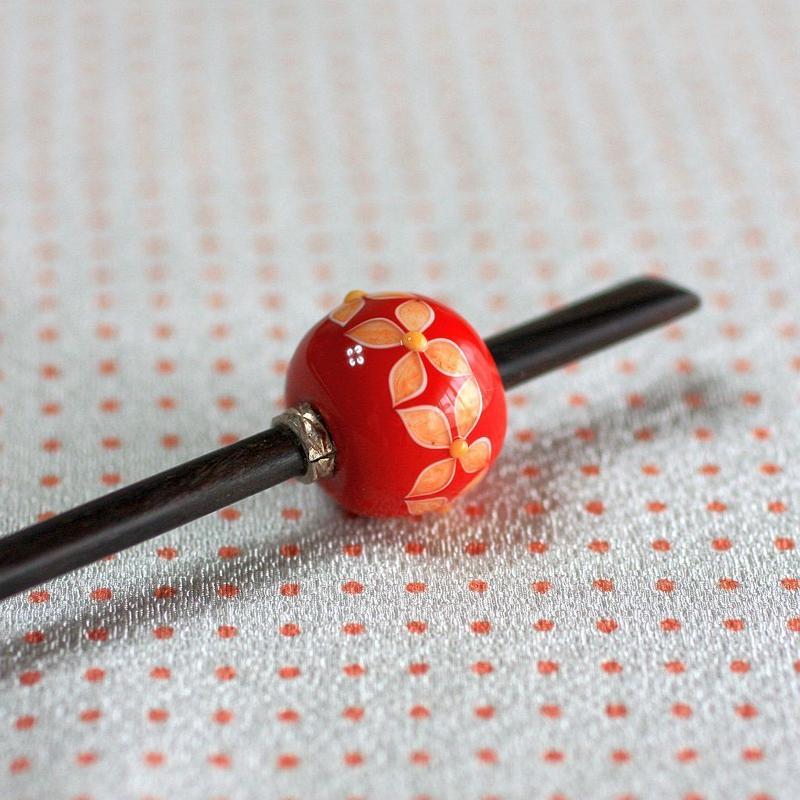 紅玉 薄紅七宝 蜻蛉玉簪