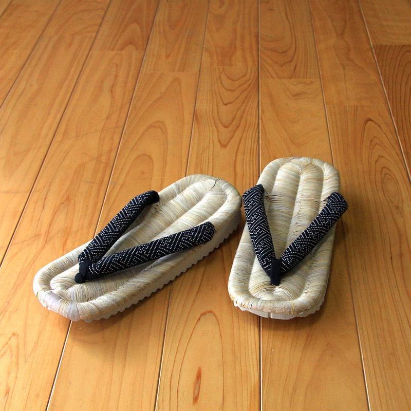 男物畳表 印伝風紗綾型 三度草履(八寸三分)
