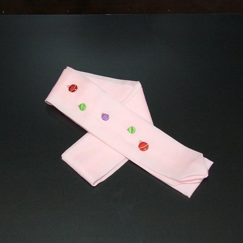 刺繍入り腰紐 鈴 桃色