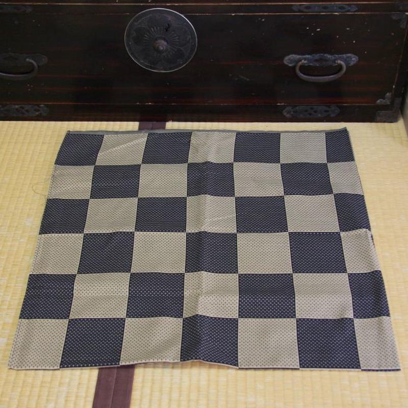 市松紋 先染織 木綿風呂敷