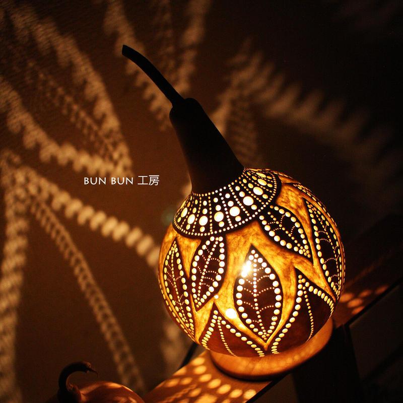 ひょうたんランプ---木の葉
