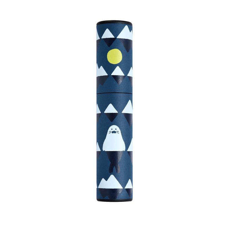 筒型ペンケース 小川未明 月とあざらし
