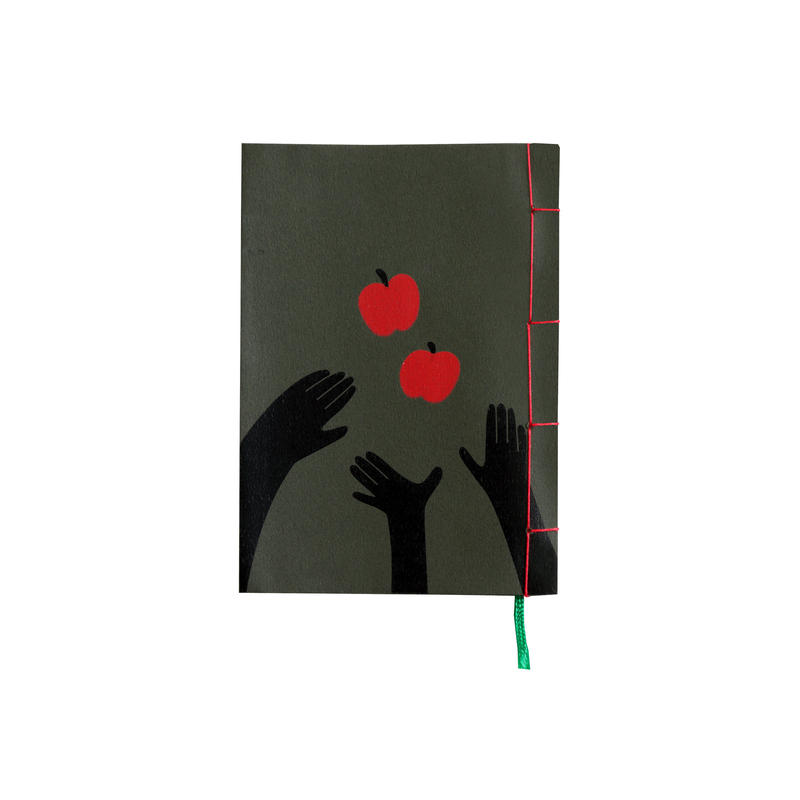 和綴じノート(文庫本サイズ) 小川未明 三人と二つのりんご