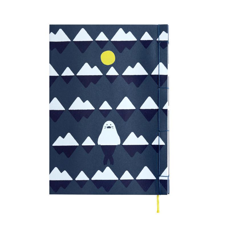 和綴じノート(単行本サイズ) 小川未明 月とあざらし
