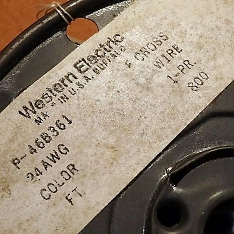 WESTERN ELECTRIC [♯24・TWIST] 絶縁被覆錫メッキ・銅単線