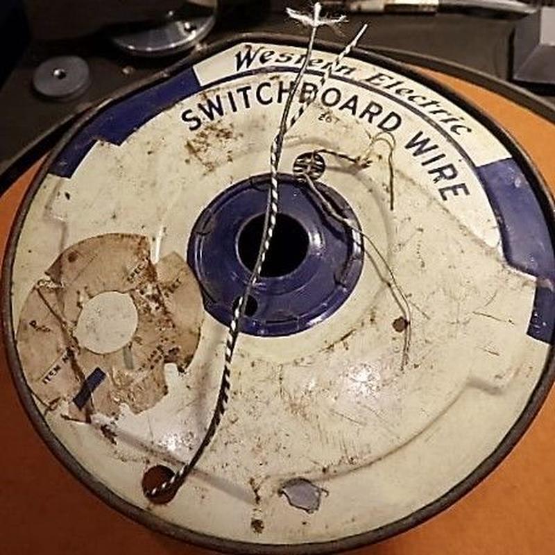 WESTERN ELECTRIC [♯22・TWIST] 絹巻き錫メッキ銅単線
