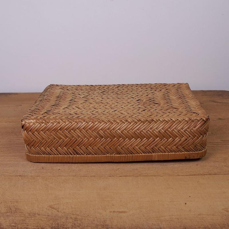 網代編み竹製行李