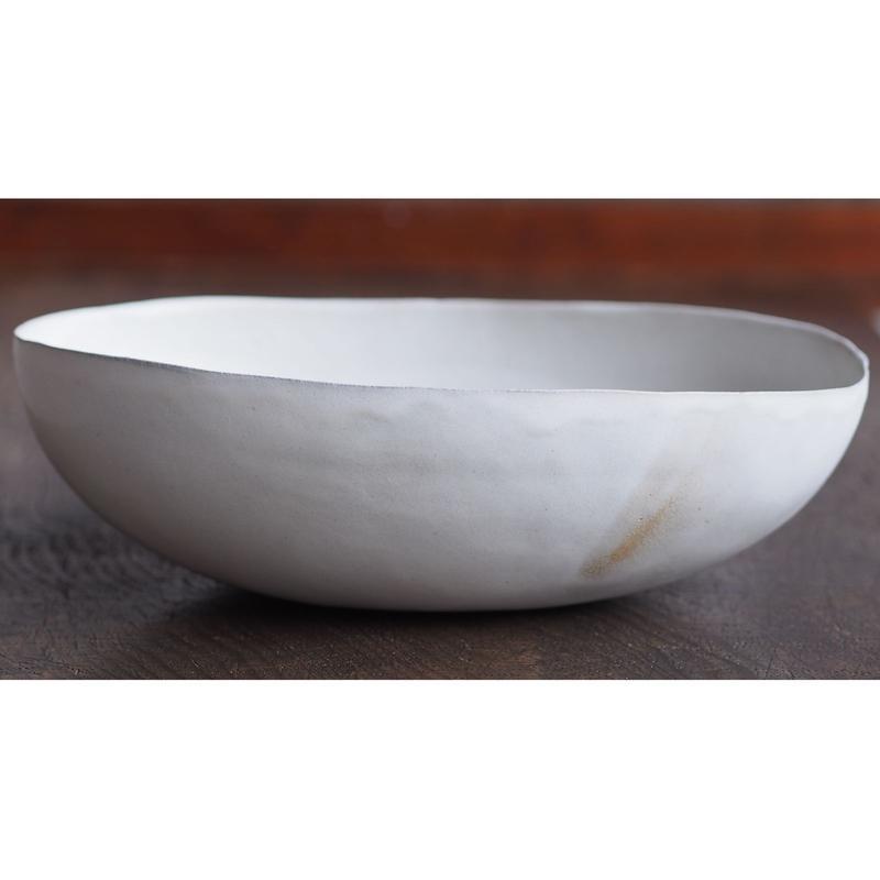ババグーリ babaghuri 薄手の陶器 白 大鉢