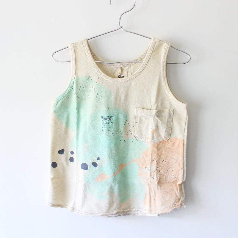 Kids clouds tank / chalk white
