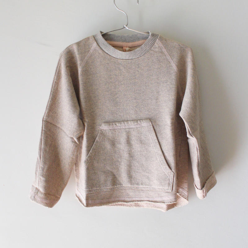 Kids heathered pull over / rosy