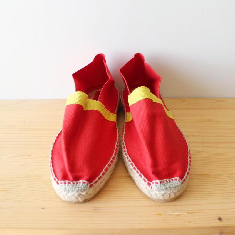 Mama espadrille / red mustard