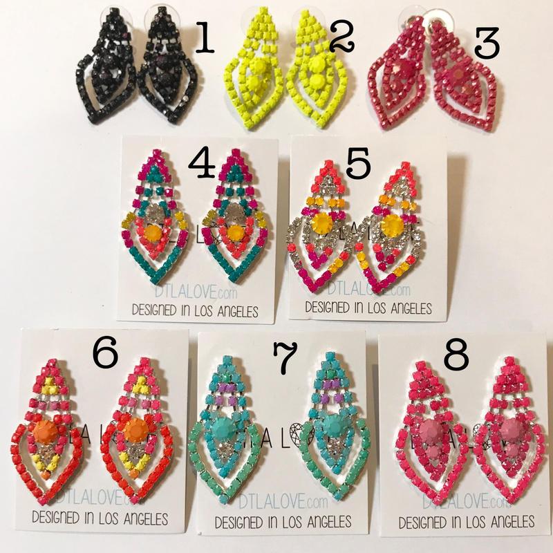 Painted earrings ピアス