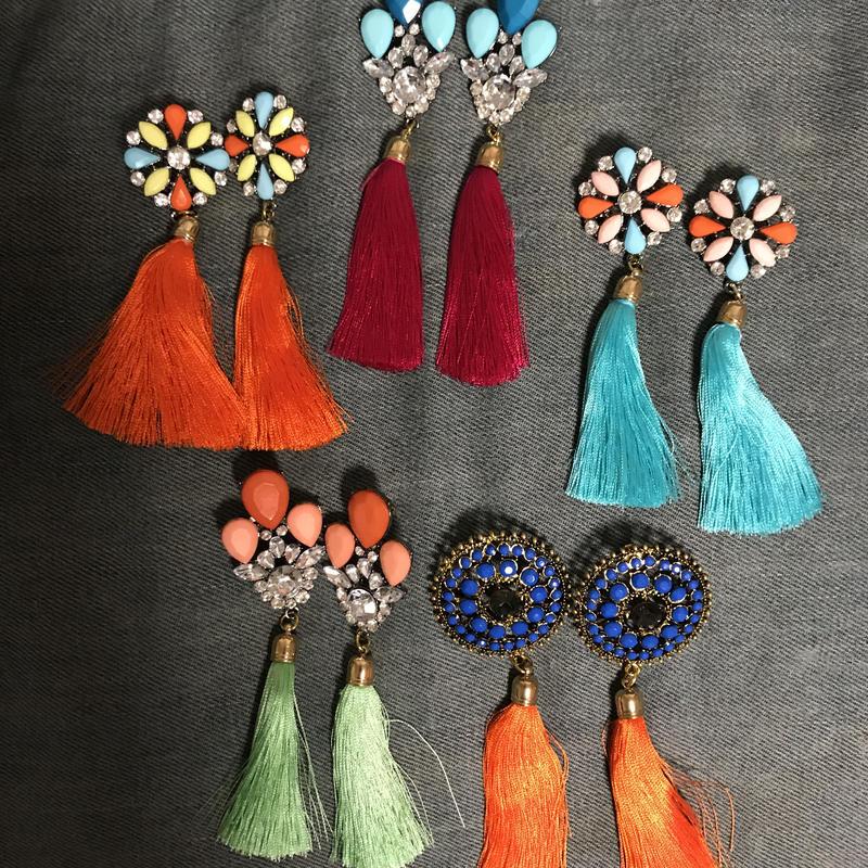 bijoux tassel earrings