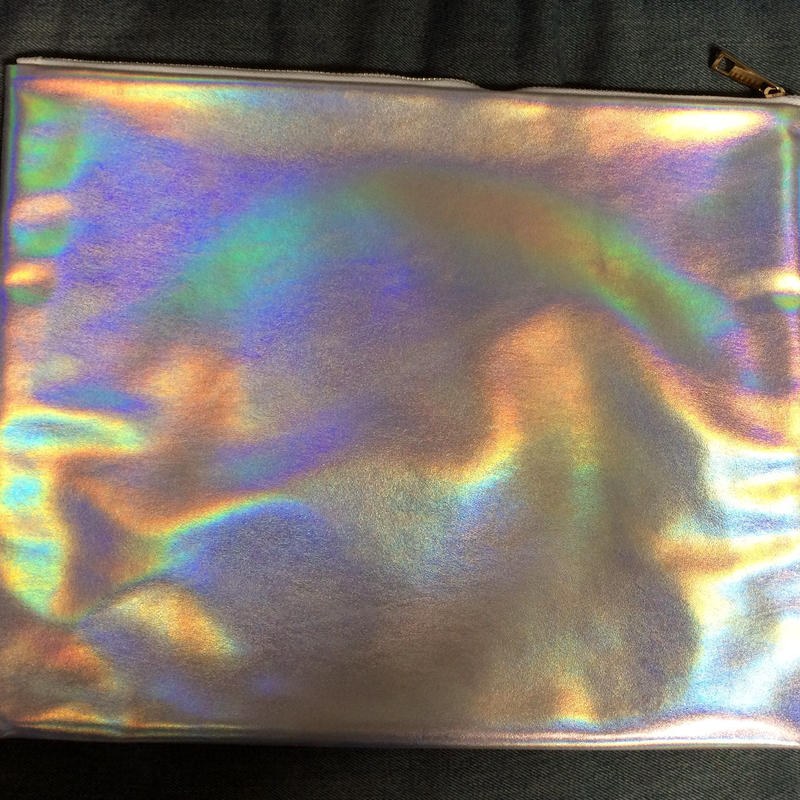 Matte holographic  XL clutch bag