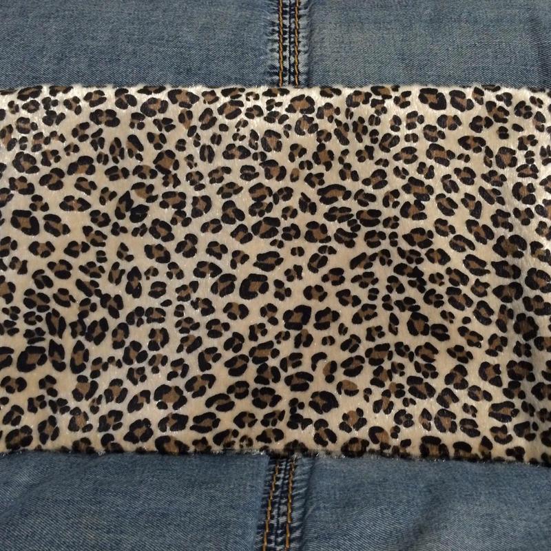 Leopard  folded clutch