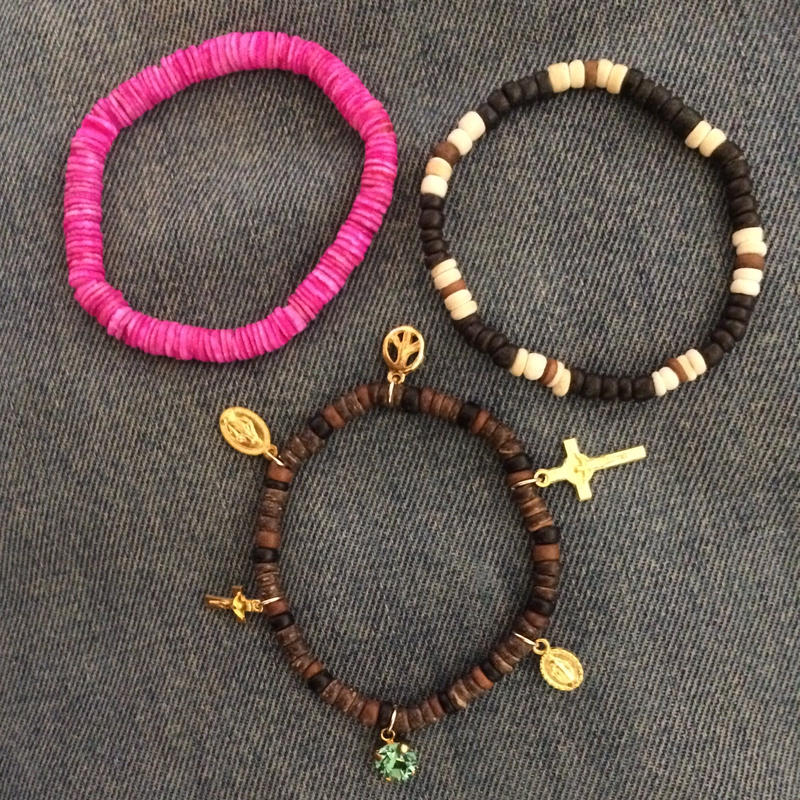 Happy & peace bracelets BROWN