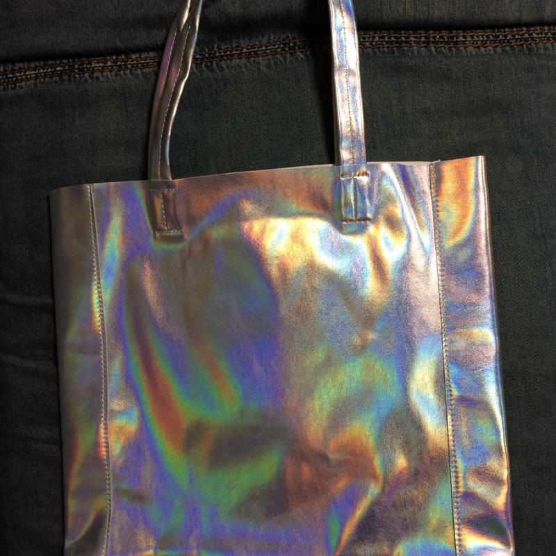 Matte hologram soft shoulder bag