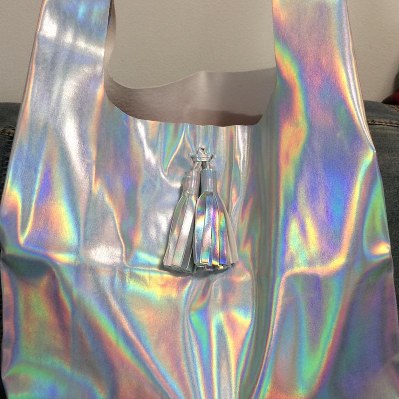 Matte holographic shopper