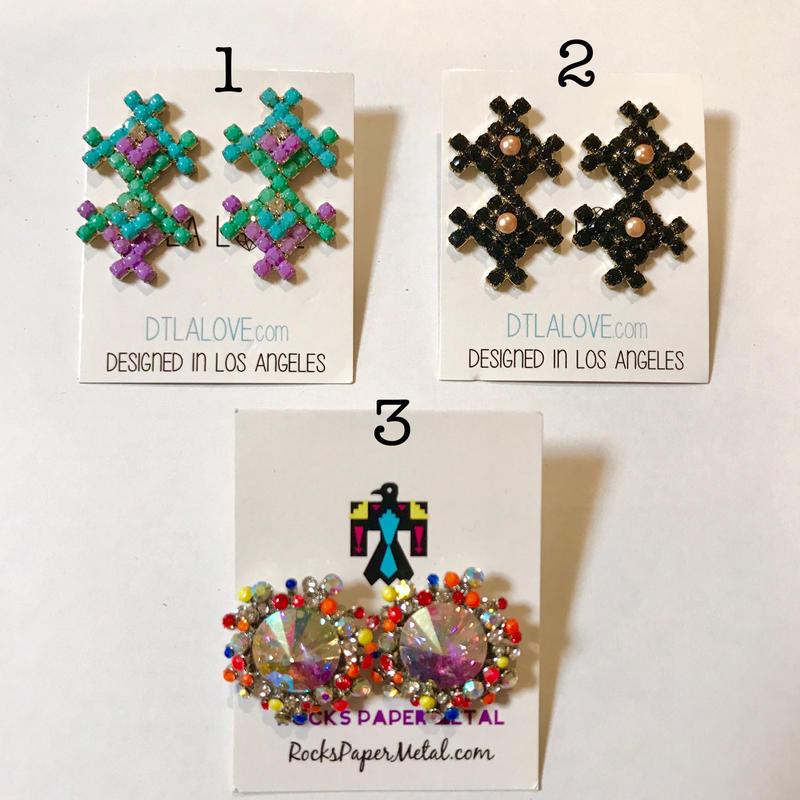 Lux earrings ピアス