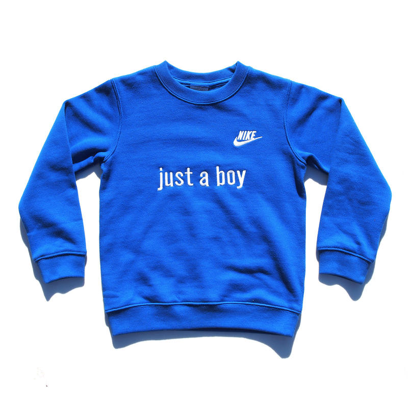 NIKE CUSTOM MADE CREW NECK SWEATSHIRT BLUE