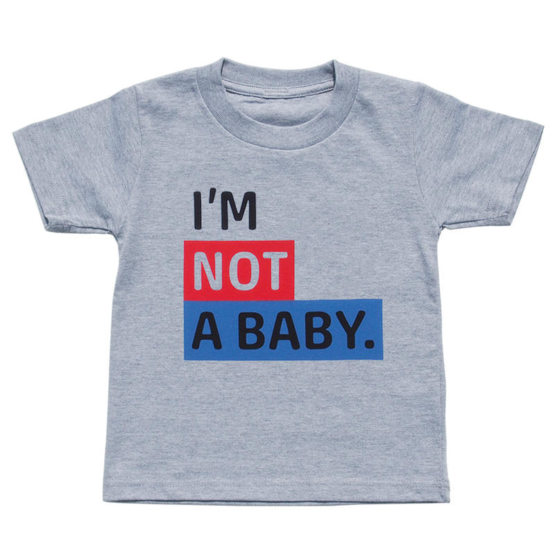 I'M NOT A BABY. TEE / GREY 100CM