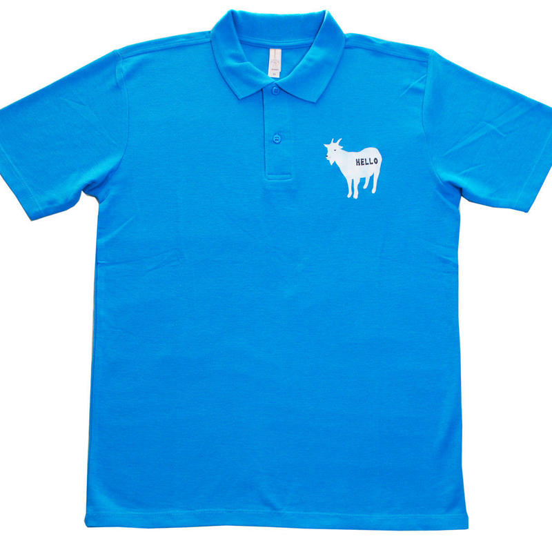ヒィージャー ポロシャツ ライトブルー