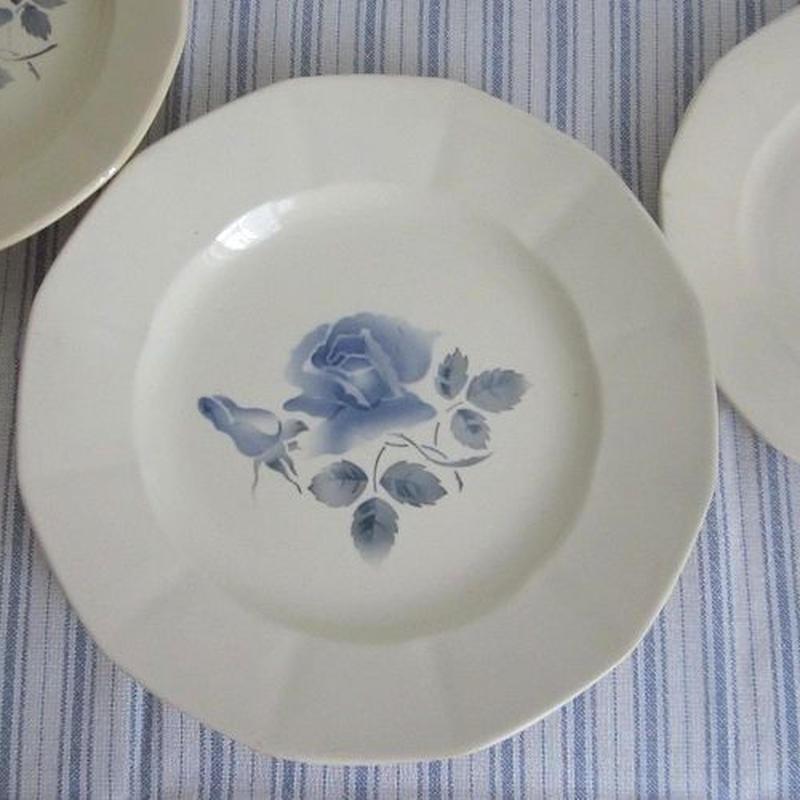 ディゴワン・サルグミンヌのブルー薔薇平皿(中)